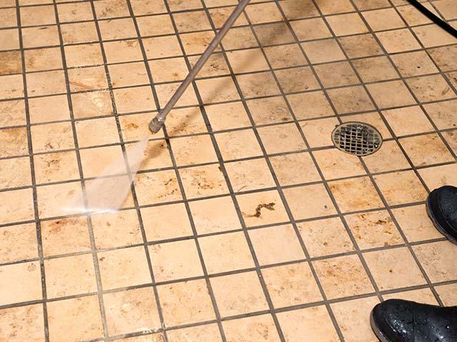 steam clean grout